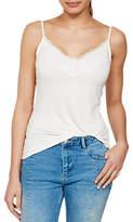 Mint Velvet Jersey Lace Camisole, Cream