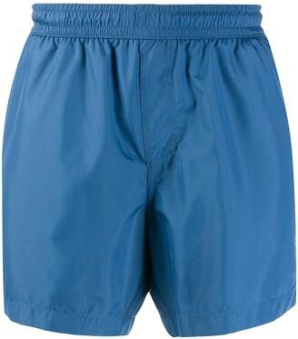 Ermenegildo Zegna Elasticated Waist Multi-Pocket Swim Shorts