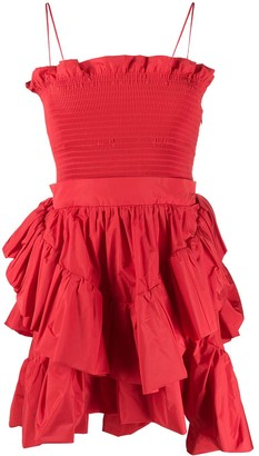 Philosophy di Lorenzo Serafini Smocked Waist Ruffled Dress