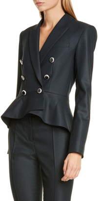 Veronica Beard Rhodora Double Breasted Peplum Jacket