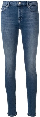 Love Moschino Logo Embellished Skinny Jeans