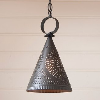 Gracie Oaks Wickersham Witch's Hat 1-Light Single Cone Pendant Finish: Kettle Black