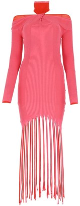 Bottega Veneta Halter-Neck Twisted Fringed Dress