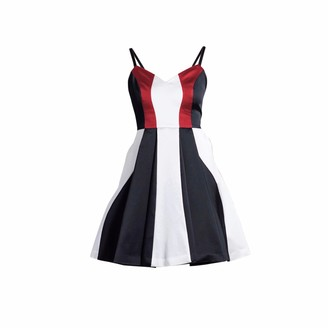 Philosofée By Glaucia Stanganelli Triade Tricolor Dress Red Detail