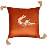 Melody Rose London Trapeze Boy Velvet Cushion Burnt Orange