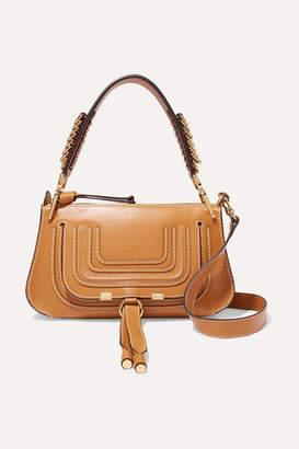Chloé Marcie Small Leather Shoulder Bag - Camel