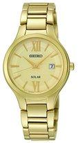 Seiko Women's SUT212 Analog Display Analog Quartz Gold Watch