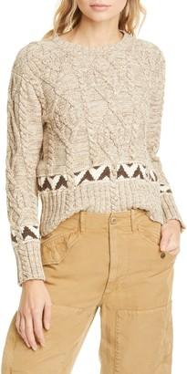 Polo Ralph Lauren Aran Stitch Cotton & Linen Sweater