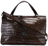 Zanellato crocodile effect satchel