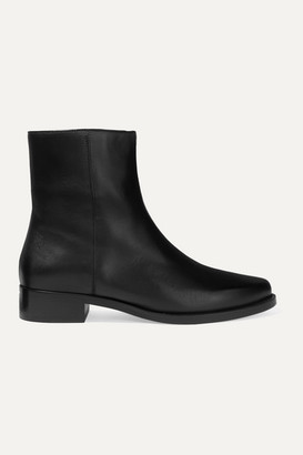 LEGRES 01 Leather Ankle Boots - Black