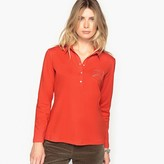 Anne Weyburn 100% Brushed Cotton Polo Collar T-Shirt