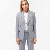 Paul Smith Women's Black And White Gingham Double-Breasted Blazer
