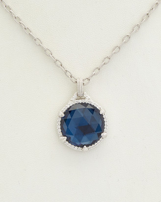 Judith Ripka La Petite Silver 28.32 Ct. Tw. Gemstone Doublet Pendant Necklace