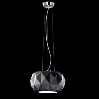 Leucos Deluxe 1-Light LED Single Geometric Pendant Shade Color: Matte Black