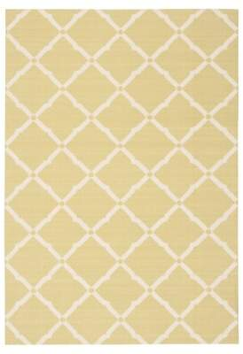 Beachcrest Home Creedmoor Lime Green/White Indoor/Outdoor Area Rug