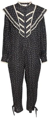 Etoile Isabel Marant Realia Printed Cotton Voile Jumpsuit