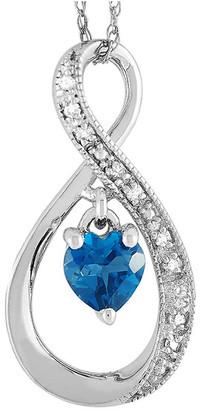 Non Branded Lb Exclusive 14K 0.03 Ct. Tw. Diamond & Topaz Necklace