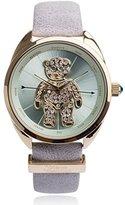 Vivienne Westwood Women's VV103BLGY Crazy Bear Analog Display Swiss Quartz Grey Watch