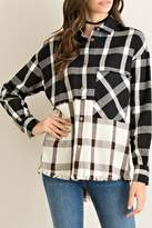 Entro Blocked Plaid Top