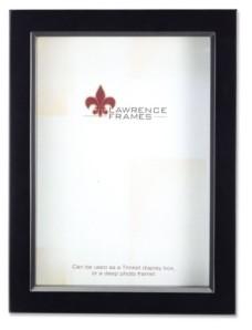 "Lawrence Frames 795080 Black Wood Treasure Box Shadow Box Picture Frame - 8"" x 10"""
