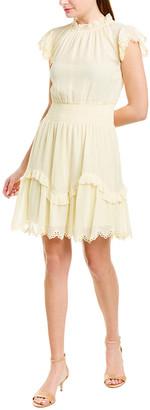 Rebecca Taylor Lurex Silk-Blend A-Line Dress