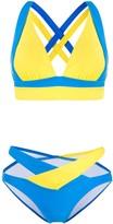 Perfect Moment Vale Cutout Rainbow bikini set