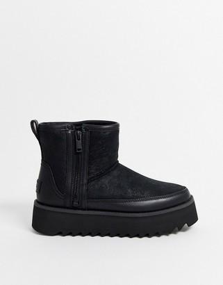 UGG Rebel biker mini ankle boots in black