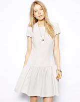 Twenty8Twelve Evening Dress with Drop Waist and Short Sleeves