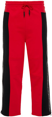 McQ Two-tone Printed French Cotton-terry Track Pants