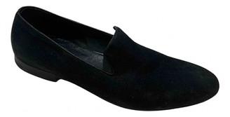 Alexander McQueen Navy Cloth Flats