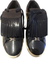 Michael Kors Navy Patent leather Trainers