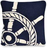 Liora Manné Frontporch Ship Wheel Square Throw Pillow in Navy