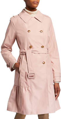 Kate Spade Belted Prairie Style Midi Trench Coat