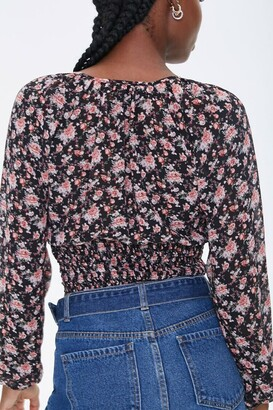 Forever 21 Chiffon Floral Print Top