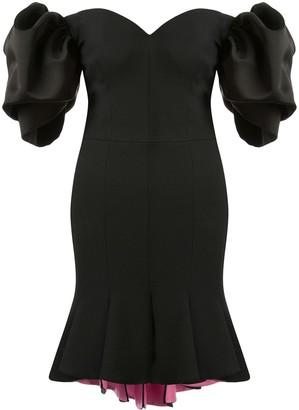Alexander McQueen peplum hem off-shoulder dress
