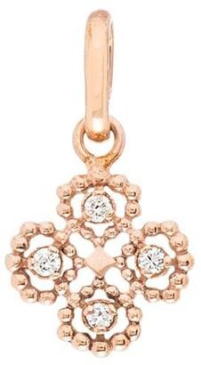 Gigi Clozeau 18kt Rose Gold Lucky Clover Diamond Charm