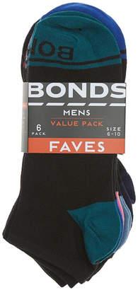 Bonds Mens Fave Trainer Socks 6 Pack