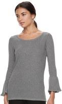 Elle Women's ElleTM Bell-Sleeve Scoopneck Sweater
