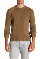 Vince Lux Genuine Suede Patch Sweater