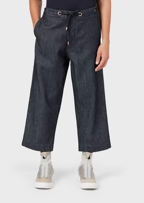 Emporio Armani Drawstring Denim Trousers