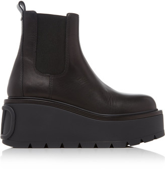 Valentino Beatle Platform Leather Boots