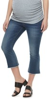 a glow Maternity a:glow Belly Panel Cropped Flare Jeans