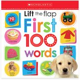 """Scholastic Lift the Flap: First 100 Words"""" Board Book"""