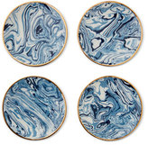 AERIN Marbleized Coasters, Set of 4