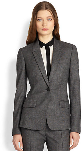 Burberry Check Wool Blazer