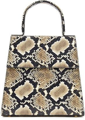 BY FAR Monet Snake-effect Leather Shoulder Bag