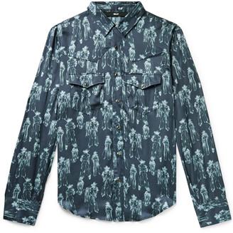 Billy Slim-Fit Printed Satin Western Shirt