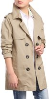 JiaYou Kid Child Boy Solid Double Breasted Long Sleeve Outwear Trench Coat Jacket