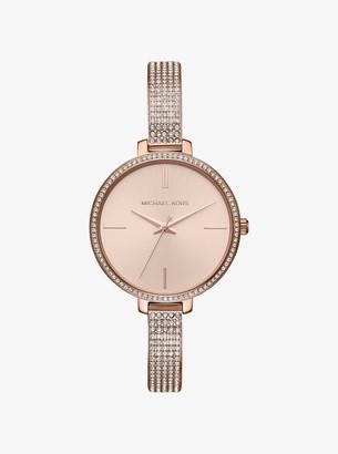 Michael Kors Jaryn Pave Rose Gold-Tone Watch