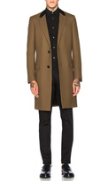Lanvin Slim Fit Wool Coat